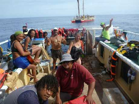 A calm day aboard Ngahiraka Mai Tawhiti heading to Easter Island. Photo / Supplied