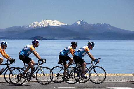 Next week Grant Harding will tackle the Lake Taupo Cycle challenge