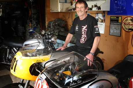 TWO TITLES: Wanganui's classic motorcycle rider Colin Tate picked up both the national series titles of the 500cc Factory Class and the Open Modified championships in Manfeild at the weekend. PHOTO/BEVAN CONLEY 191112WCBRCTA01