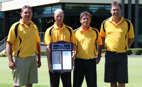 Victorious Darling Downs team members (from left) Anthony Timms, Nigel Weldon, Troy Neville and Justin Shine.