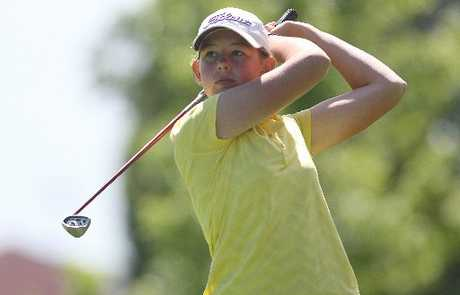 Fourteen-year-old Alanna Campbell performed well at the Omanu Classic held over the weekend. Photo / Joel Ford