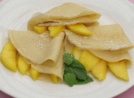 Mango coconut crepes
