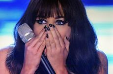 Samantha Jade reacts to winning The X Factor.