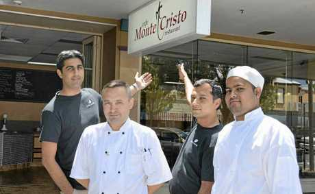 Cafe Monte Cristo owner Harvey Gill, with his team, Andrew Gladkikh, Nash Chawla and Sam Kumar are up and running at Rose City Shoppingworld (next to Brumby's).