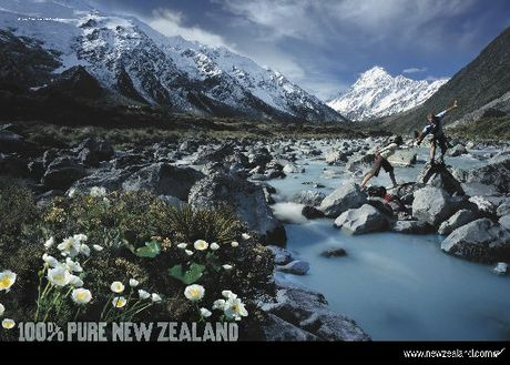 The images used in Pure New Zealand campaigns don't always reflect reality. Photo / File