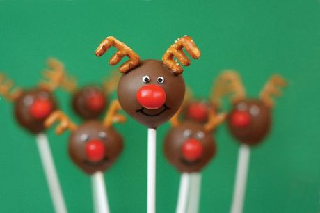 Red nosed reindeer cake pops will be a festive and cute addition to Christmas.
