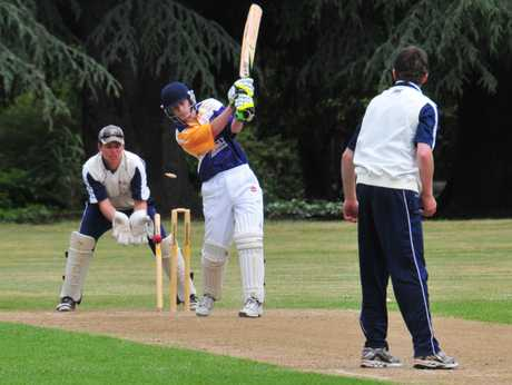 NO ARGUMENTS HERE: Lansdowne batsman Andrew Rogers is clean bowled by Greytown's Martin Reisima as 'keeper Tim Lucas looks on.