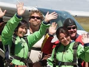 Teacher's skydive