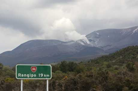 Mt Tongariro erupted yesterday