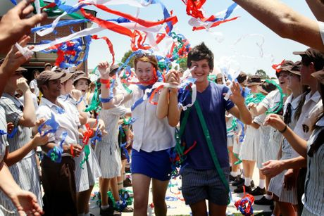 Grace Lutheran College Caboolture campus saw the first grade 12 students graduate on Friday with school captains Makayla Krosch and Lewis Tozer getting a celebrity send off.