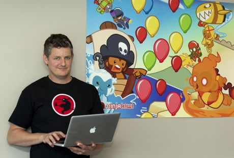 Ninja Kiwi co-founder Chris Harris.
