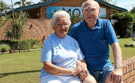HAPPY CAMPERS: Nelda and Ray Hugo have been visiting Byron for 60 years.