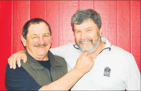 Don Oakes and Mike Oien are prepared to lose their facial hair for a good cause. They are auctioning off Don's moustache and if they raise $1000 Mike has agreed to shave off his beard on November 30 as part of the month's Movember charity drive for the fight against prostrate cancer and depression.