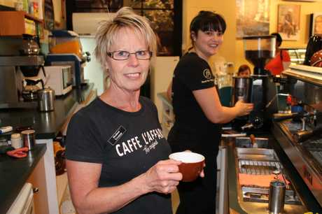 BEAN COUNTERS: Yvonne McNeil said her barista Rachael Kibblewhite was unable to make coffee for customers at Food for Thought.