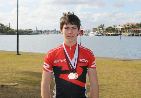 Daniel Fitter took home three bronze medals from the Queensland State Road Championships. 
