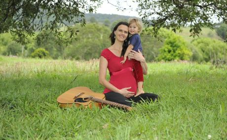 "Terri Nicholson of The Channon, with her son Elwood Nicholson-Moss, 2, hopes to see her new album ""Fall into Feeling"" hit Number 1 on the Amazon Charts when it is released online today."