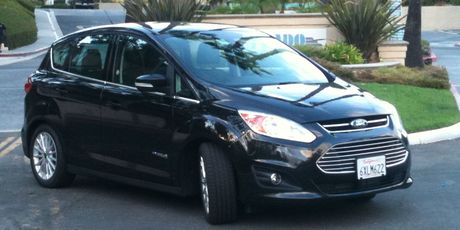The Ford C-Max hybrid was economical when driving around LA and on freeways, but a TomTom satnav system was essential.
