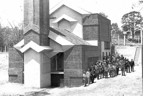This interesting photograph from Picture Ipswich shows the opening of the Incinerator Theatre in Ipswich.