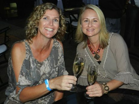 Jacqui Delaney and Jacqui Booth at the Palmer Coolum Resort&#39;s Village Square.