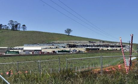 Headquarter of the Ewingsdale to Tintenbar Highway upgrade, the extra workforce is bringing economic benefit to the town of Bangalow.