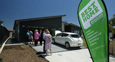 GRAND OPENING: A house designed and constructed using sustainable principles was revealed in Whakatomo Place, Havelock North, yesterday.