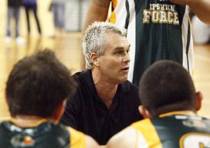 RARE PRIVILEGE: Dealing with Ipswich Force men's coach and basketball legend Shane Heal was a highlight at the QT.