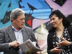 CENSUS PUSH: Winston Peters and Rowan Tautari aim to reach Maori.