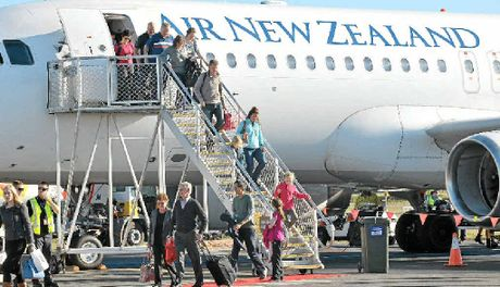 DIRECT LINK: Air New Zealand's aircraft lands at the Sunshine Coast Airport.