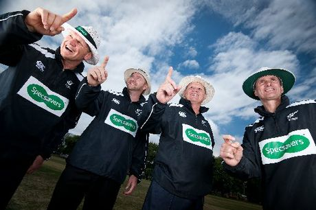 EAGLE EYES: Umpires Phil Jones (left), Wayne Knight, Peter Gasston and Billy Bowden are on the lookout for New Zealand&#39;s favourite local cricket umpire.