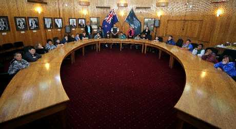 HEAR, HEAR: The Wanganui District Council chamber is set to be wired for sound in a $6600 aural refit. PHOTO/FILE
