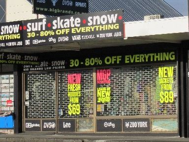 Katikati Surf, Skate, Snow store was the scene of a break-in Sunday night.