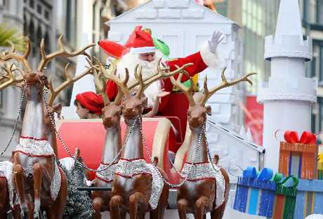 The Farmers Santa Parade kicks off the Christmas Season in Auckland city centre.