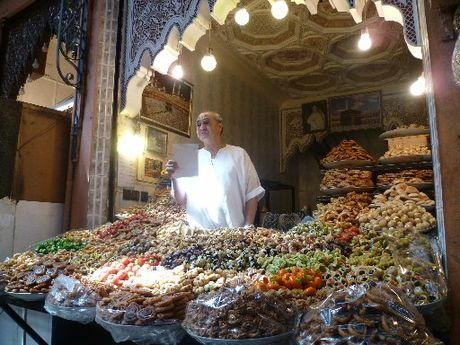 ALADDIN&#39;S CAVE: Souk traders sell everything from fruit and sweet treats to mosaics and lamps.