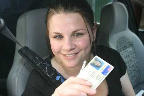 NERVOUS: Vicky Lewis passed her restricted licence test.