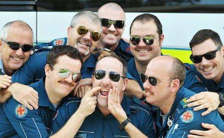 Peter Dennis, Dave Troisi, Chris Curtis, David Broadhead, Andrew Borg and (front) Alex Thompson, Damian Roache and Adrian Gielis are growing moustaches for Movember.