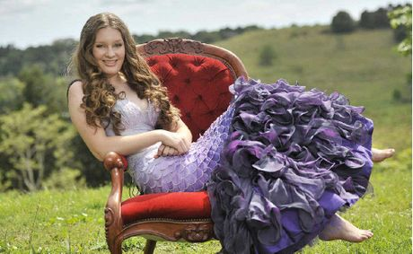 Bonnie Graham models her mermaid dress that has been selected for the 2013 Texstyle Exhibition in Sydney.