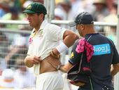 A SEASON-ending injury to fast bowler James Pattinson overshadowed a great day four for Australia in the second Test at Adelaide Oval.