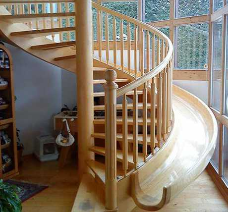 RIGHT BALANCE: We are often hard pushed to find radial balance in our newer homes but some years ago radial balance was introduced with curved walls and spiral staircases.