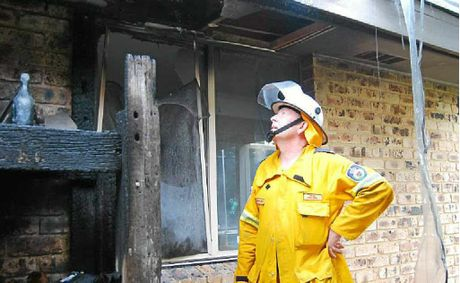 Rod Halpin, Deputy Captain of the Byron Bay Rural Fire Brigade whose quick action saved his next-door neighbour's house from burning down at Beech Drive, Suffolk Park on Sunday afternoon.