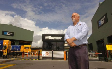 State Secretary for the AMWU Andrew Dettmer outside Downer EDI in Maryborough.