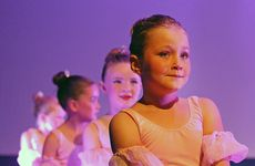 600 Hip Hop, Ballet, Jazz & Contemporary dancers from Tauranga, Papamoa and Mount Maunganui staged at Bethlehem College. Little Ballerina Aria Chiari (front).