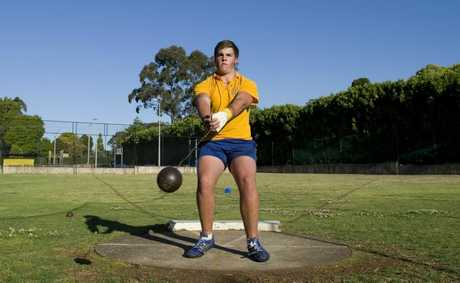 Matthew Denny is a throwing athlete who trains at Fairholme College, Thursday, September 20, 2012. Photo Kevin Farmer / The Chronicle