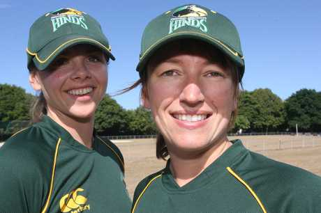 LOCAL GIRLS: Eimear Richardson (left) and Esther Lang form a Wairarapa connection in the Central Hinds squad.