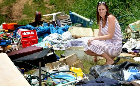 Emily Cavanagh was horrified to discover this huge pile of rubbish dumped near The Sands, beside the Mary River at the weekend.