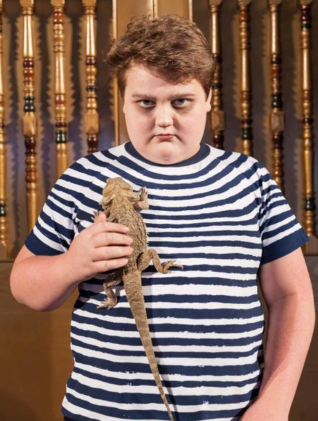 STAGE STAR: Jaxon Graham-Wilson will play Pugsley in the Capitol Theatre production of the The Addams Family - The Broadway Musical; (inset) Ken Weatherwax as Pugsley Addams in the 1960s TV series.