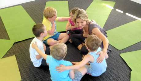 LOTS OF FUN: Amanda Richards conducts Jungle Kids Yoga classes specifically adapted for children.