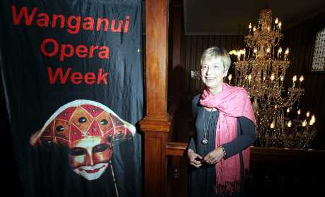 IT'S A WOW WEEK: Wanganui Opera Week spokeswoman Renate Schneider at Heritage House the new venue for the popular lunchtime recital. The 19th New Zealand Opera School at Wanganui Collegiate starts on Thursday, January 3. PHOTO /STUART MUNRO