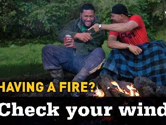 Humorous billboards with a serious message about preventing wildfires are going up around the Far North this summer.