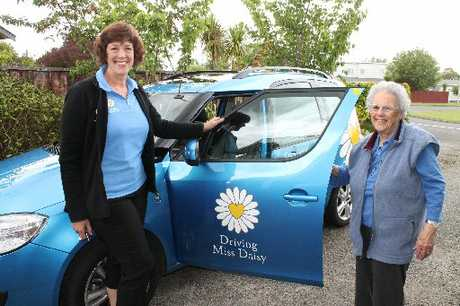 AT YOUR SERVICE: Masterton's Trix Bryant says Driving Miss Daisy's staff, including co-owner Brenda Lakeman, have become like family to her. PHOTO/TESSA JOHNSTONE