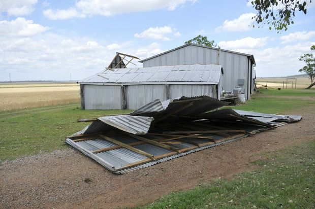A wild storm left devastation in its wake when it ripped through the Felton district on Sunday night.